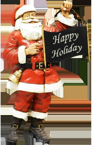 Happy Holiday Santa greeting