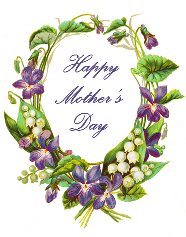 Mother's Day greeting with violets