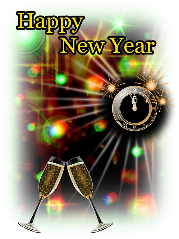 penguin new year party happy new year clip art