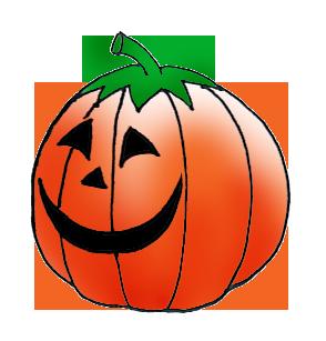 Halloween pumpkin head
