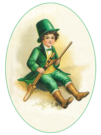 St. Patrick's Day boy in green
