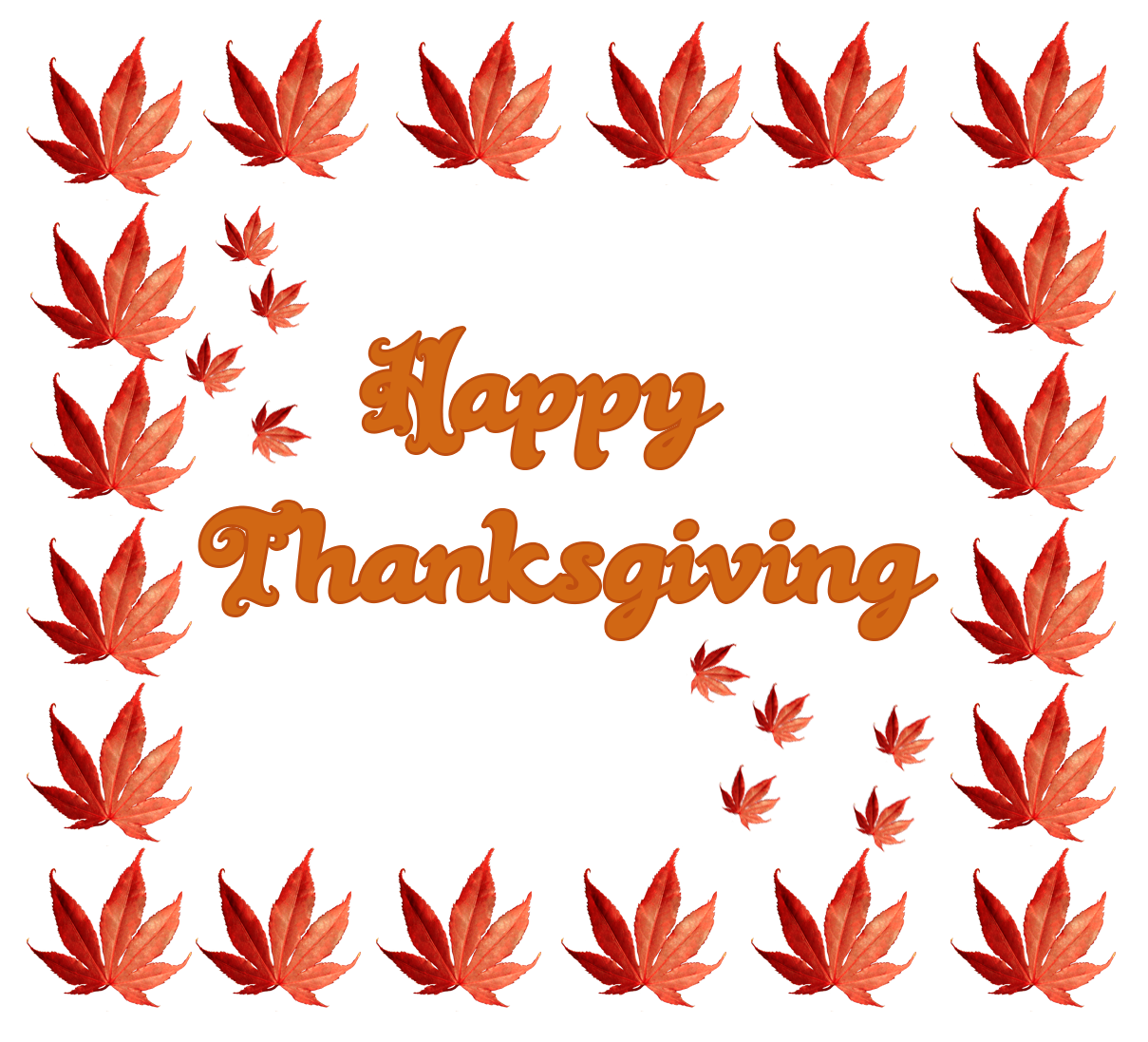 Thanksgiving greeting with fall leaves