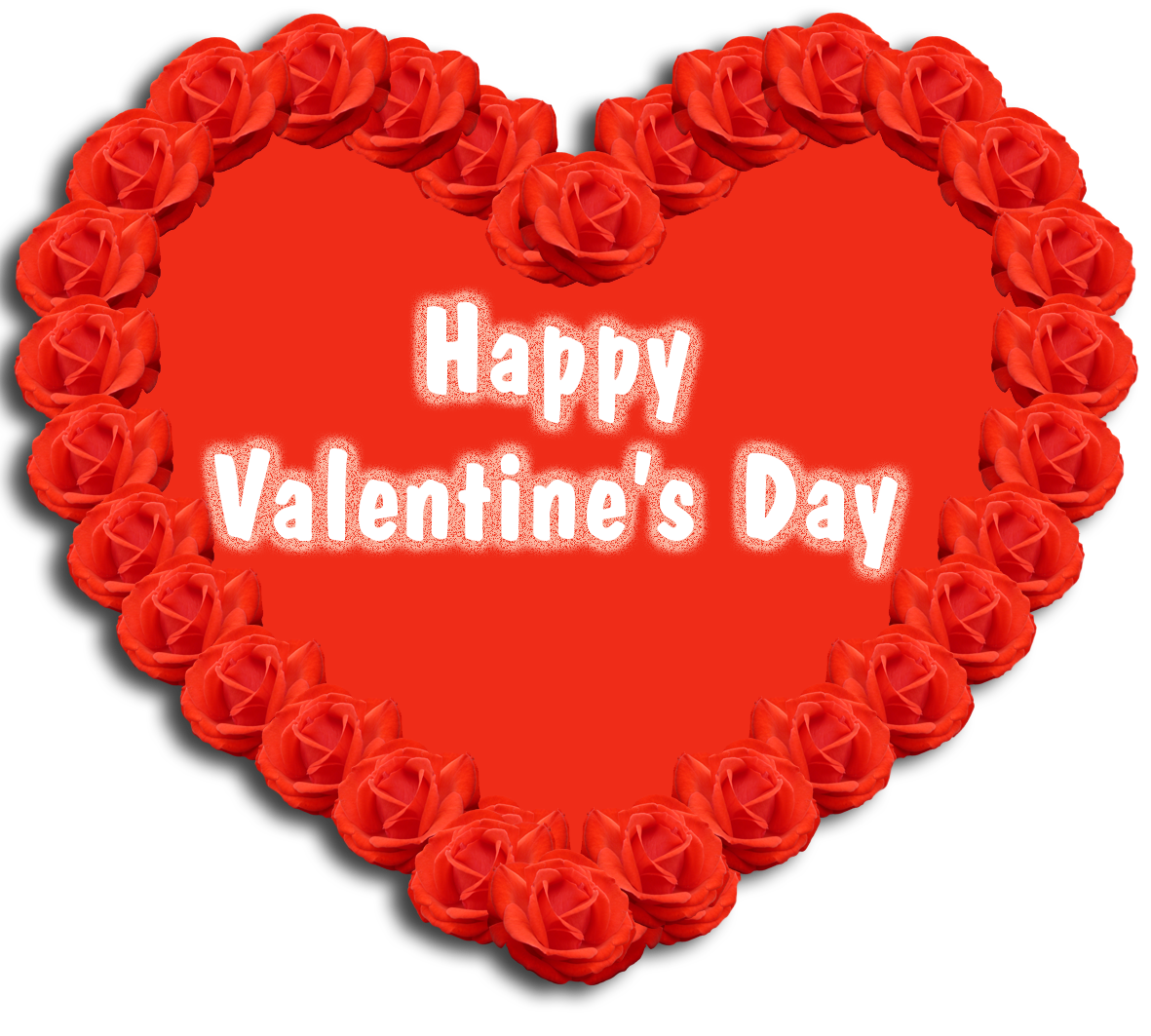 Happy Valentine's day greeting heart roses