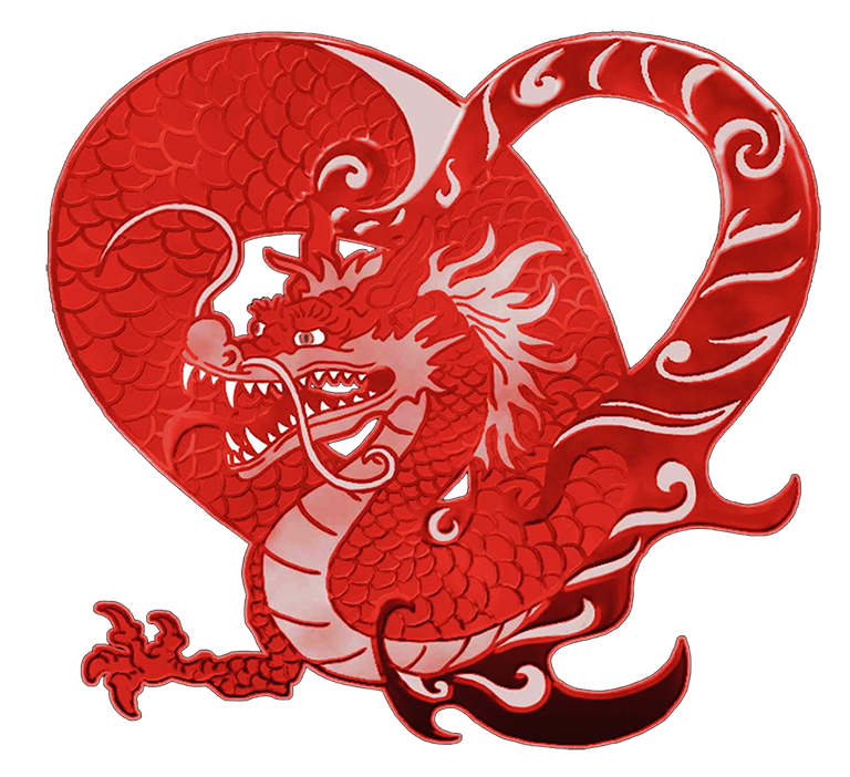 heart dragon clipart