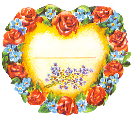heart of roses and forget me not