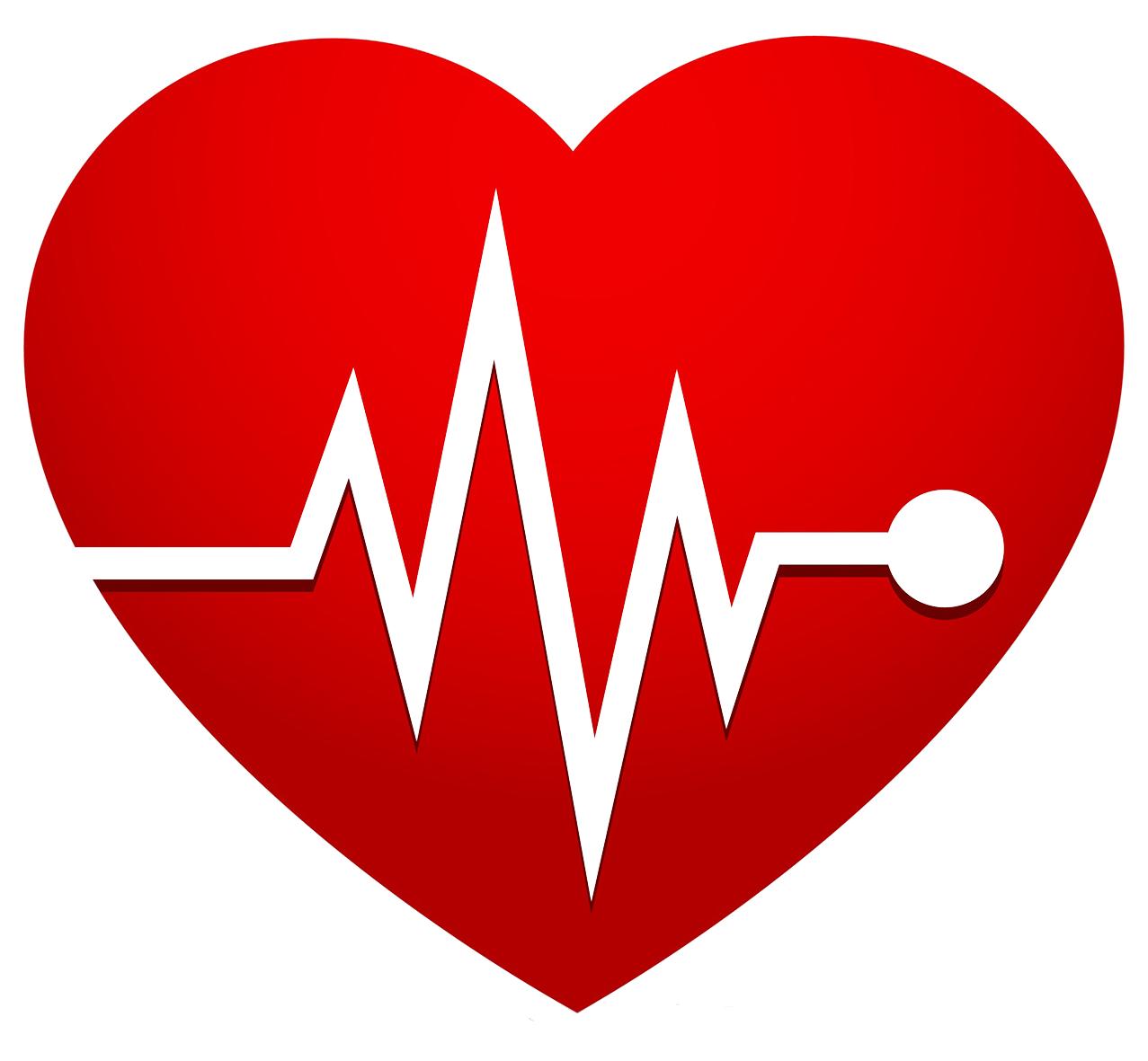 heart rate EKG red heart