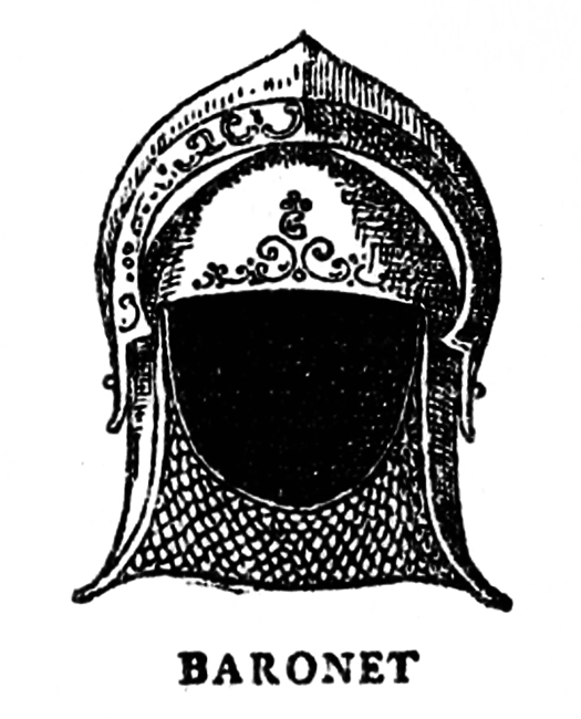 Medieval helmet for baronet