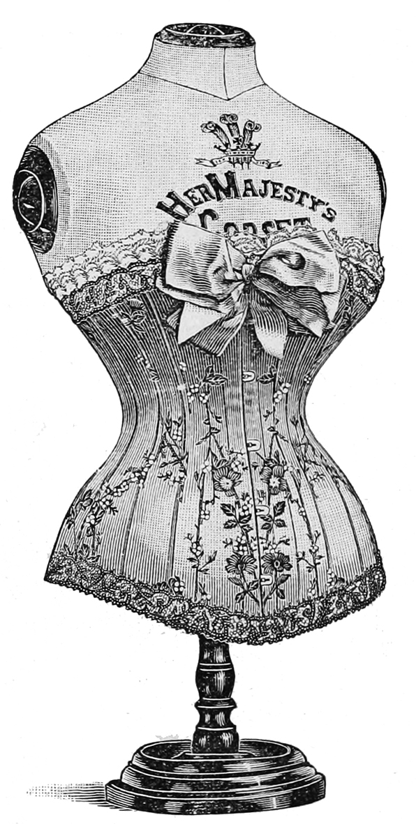 Ladies fashion in lingerie Victorian era