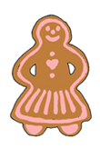 holiday clipart gingerbread woman