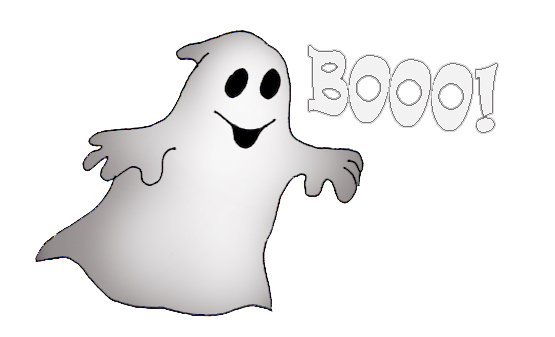 halloween ghost saying booo