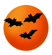 holiday clipart halloween bats moon