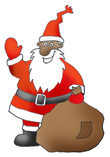 holiday clipart Santa with sack
