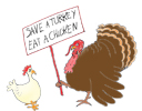 holiday clipart save a turkey bird