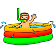 holiday clipart wading pool