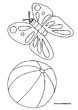 holiday coloring pages butterfly