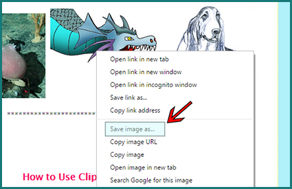 How to save and print my clip art