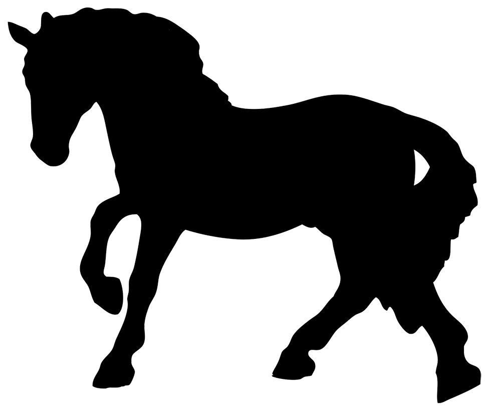 black horse silhouette clipart