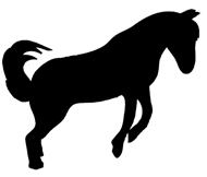 Dancing horse silhouette