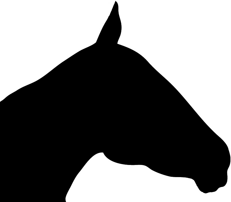 Black horse head silhouette