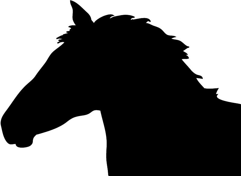 head running horse clipart