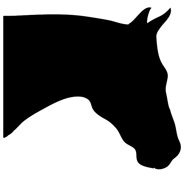 horse head sihouette bowing