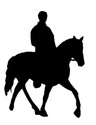 horseman and horse silhouette