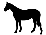 standing horse silhouette