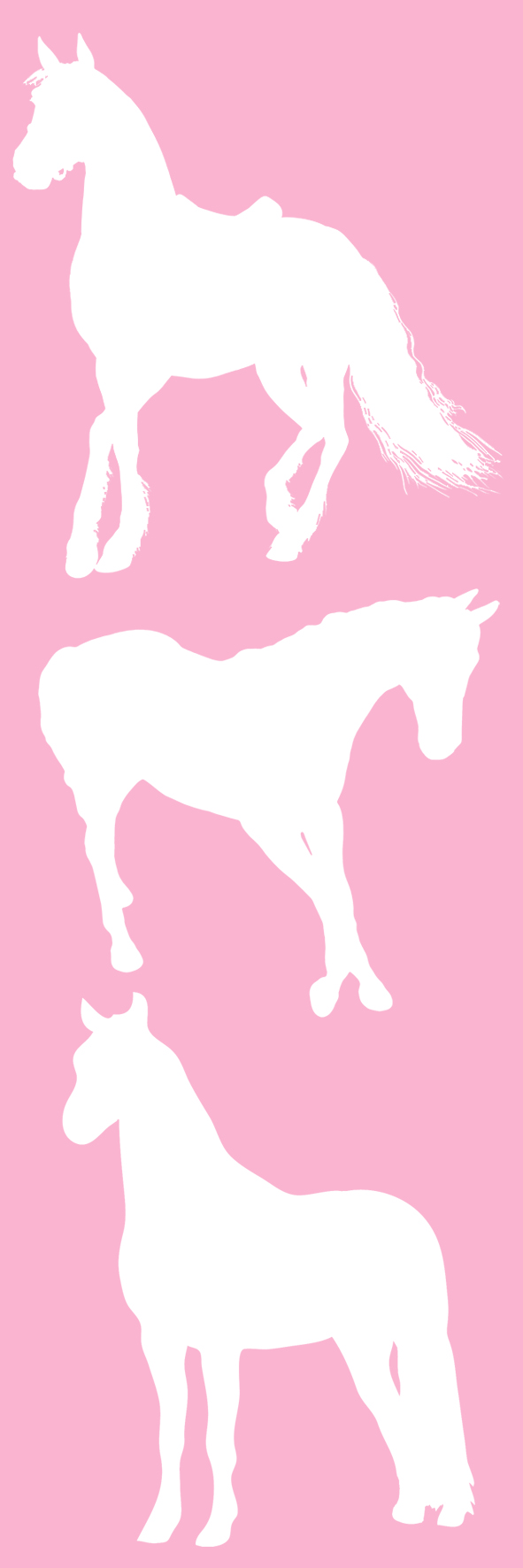 horse silhouette bookmark pink