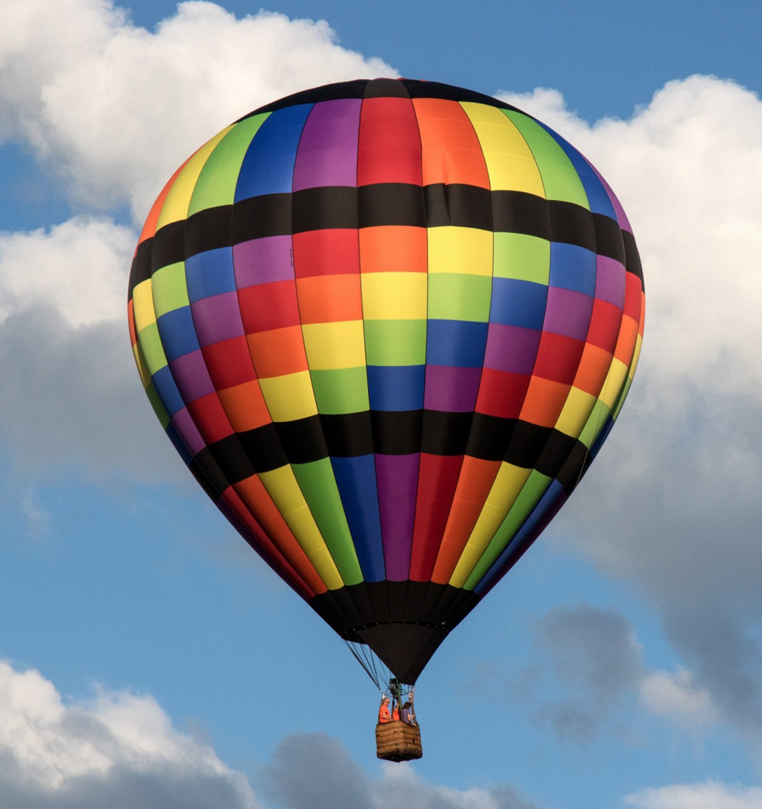 flying hot air balloon image
