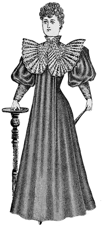 house dress 1894 Victorian style