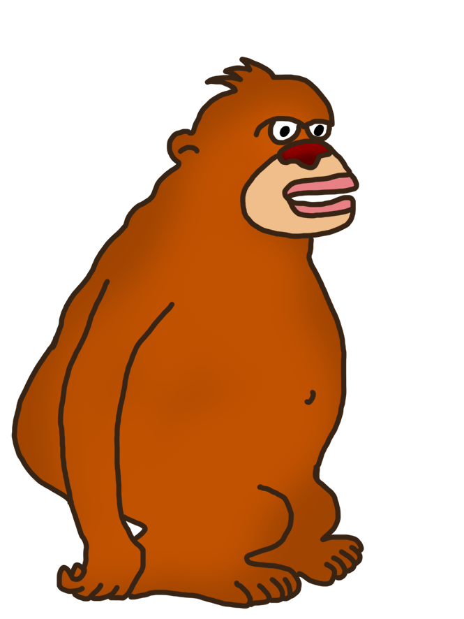 huge monkey clipart