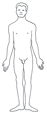 human body diagram male man black white