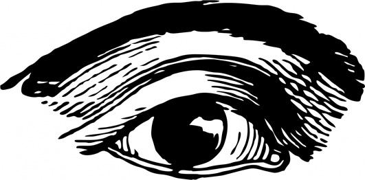 old sketch human eye