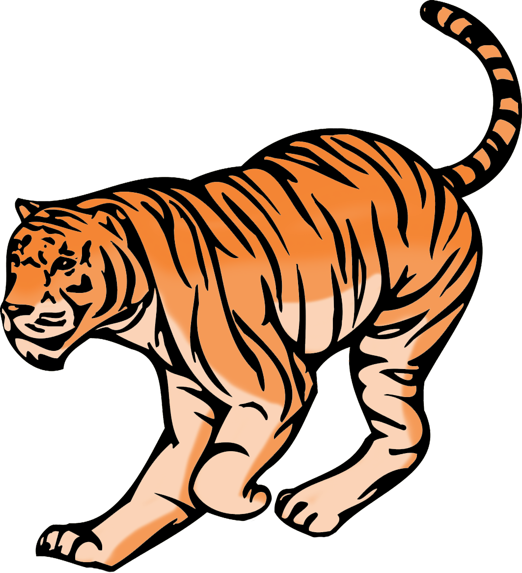 hunting tiger clipart