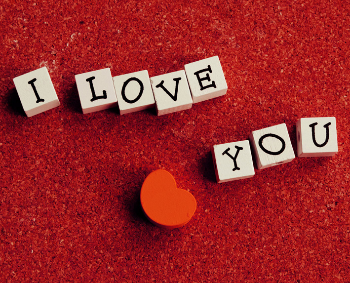 I love you message with hearta