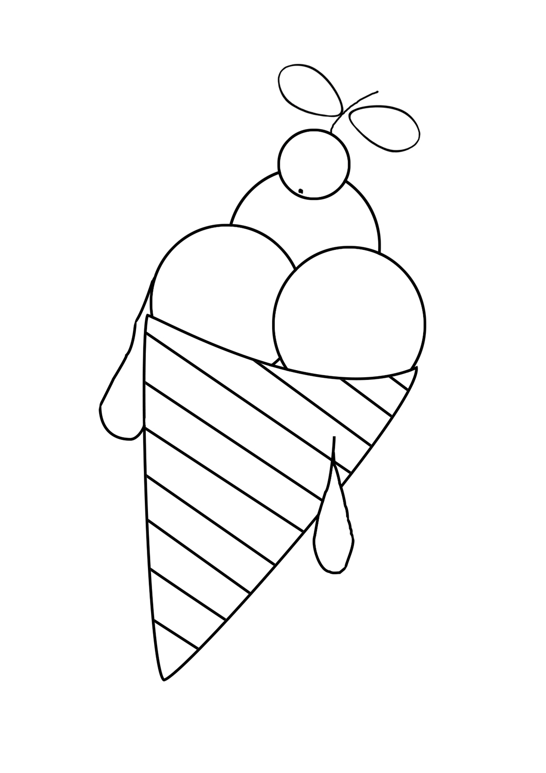 summer coloring pages ice cream cone