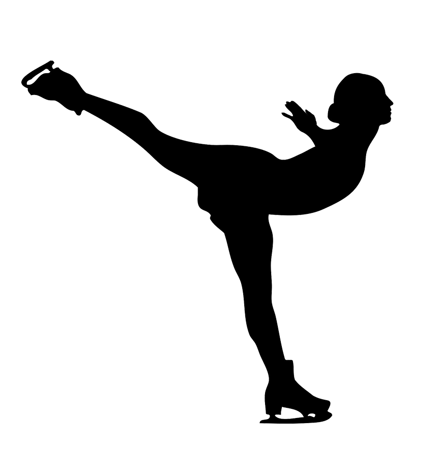 ice skating clipart female silhouette