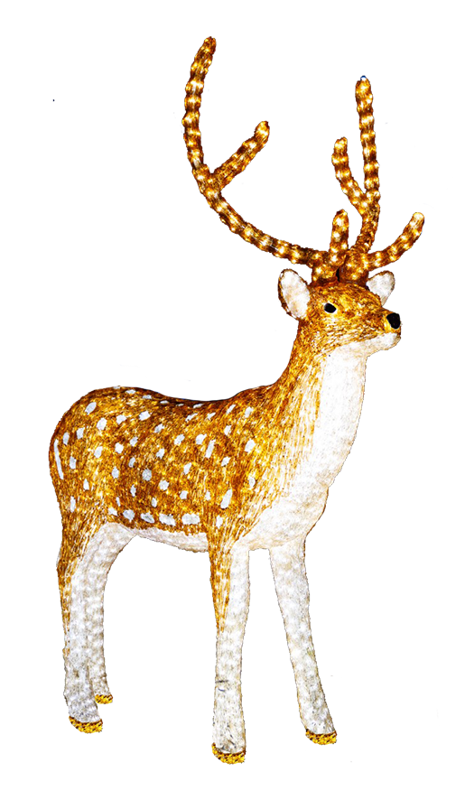 illuminated reindeer clip art