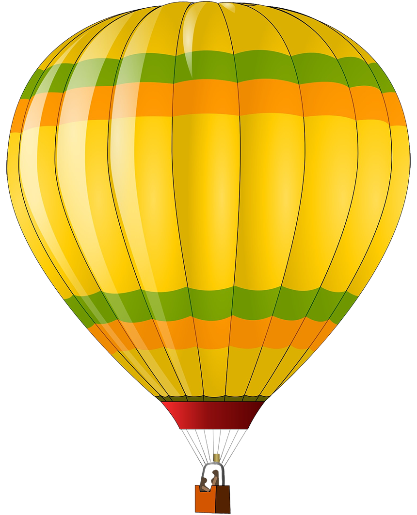 colorful hot air balloon clipart