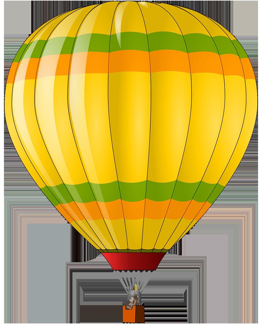 colorful hot air balloon clipart