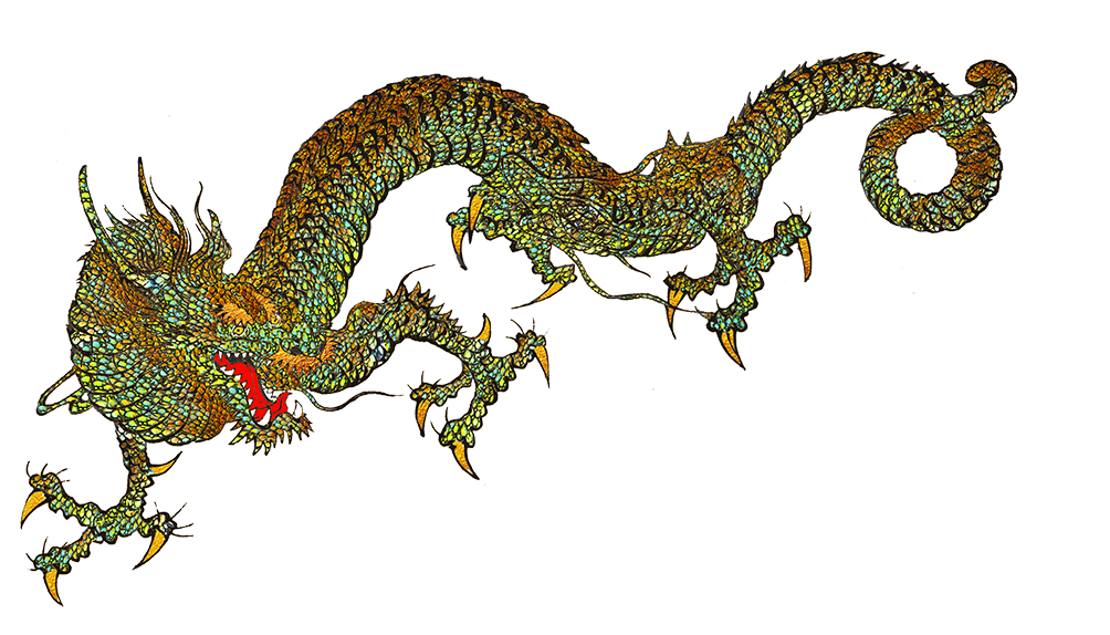 cool dragons from Japan