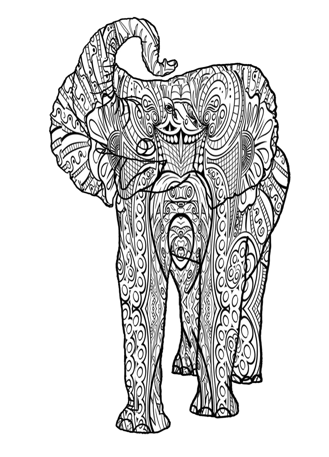 jumbo patterned for coloring