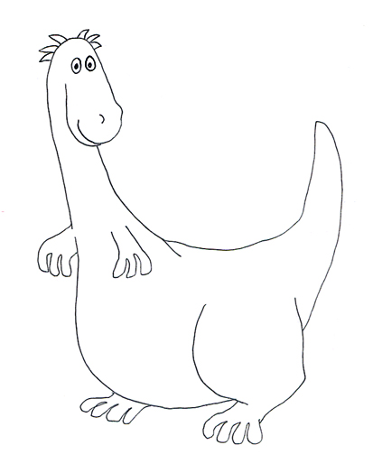 cartoon dinosaur sketch