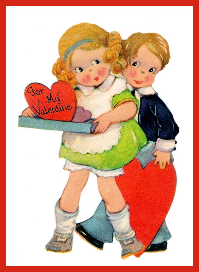 for my Valentine, love hearts girl boy