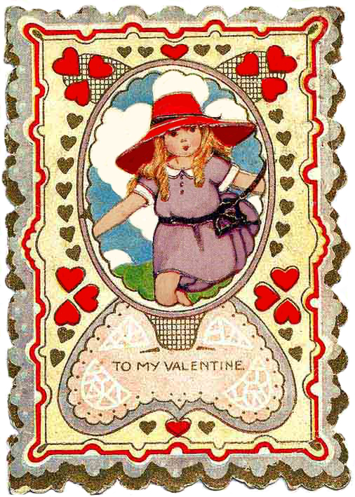 photograph relating to Free Printable Vintage Valentine Cards titled Absolutely free printable Valentine playing cards
