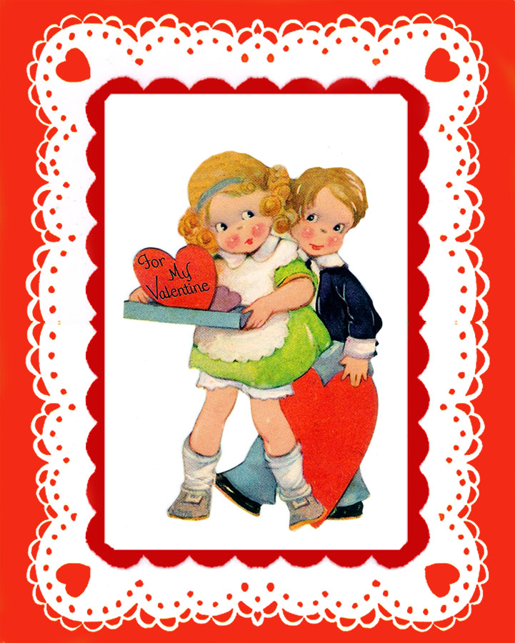 Valentine card for kids