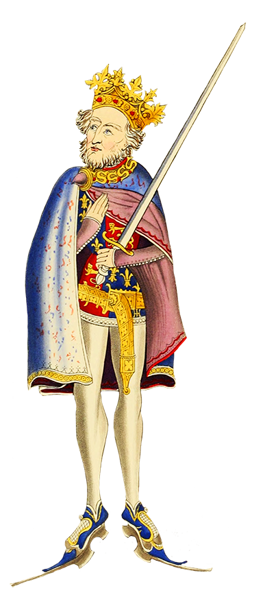 Clipart of King John medieval king