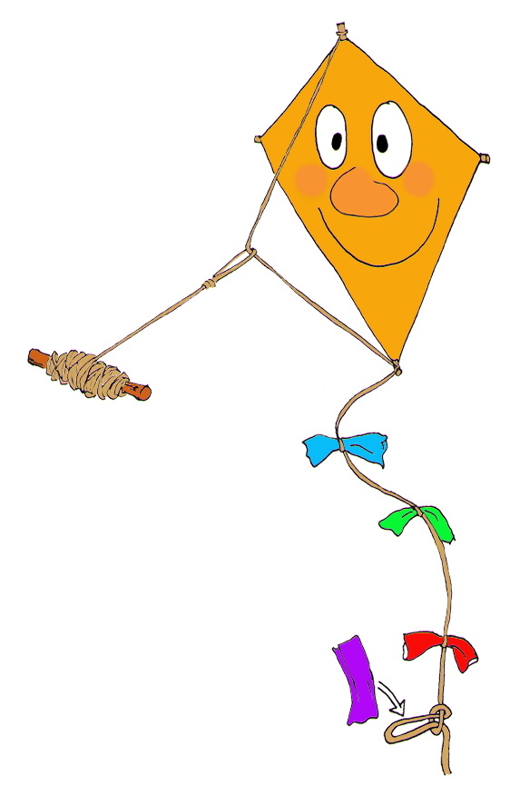 making a kite for autumn activities