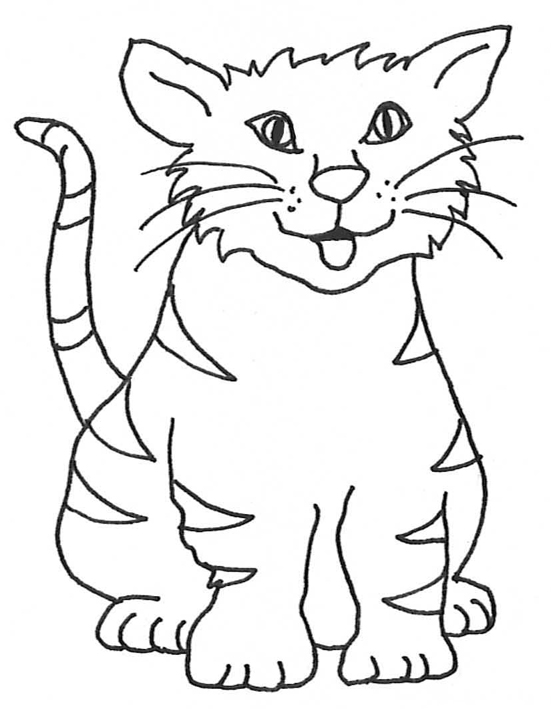 clip art kitten sketch