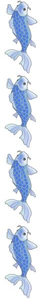 koi fish border blue